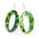 Green & Yellow Madder Oval Earrings2