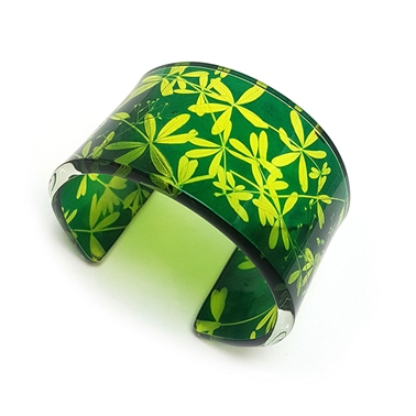 Green & Yellow Madder Wide Cuff
