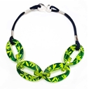 Green & Yellow Madder Oval Chain