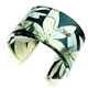 Green Passion flower Leaf Cuff