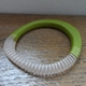 Green stripy wangle bangle