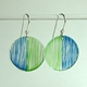 green/blue duo earrings