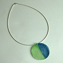 green blue duo pendant