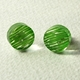 green disc stud earrings