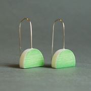bright green eclipse earrings