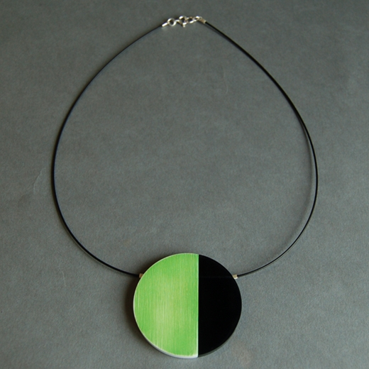 bright green eclipse necklace