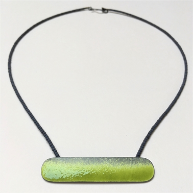 Yellow green lozenge necklace