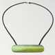 Yellow green enamel lozenge shape necklace