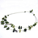 Green double strand necklace