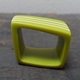 green stripy square ring
