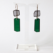 green shard earrings A008