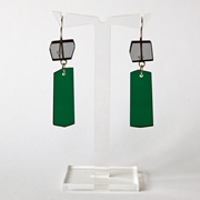 green shard earrings A010
