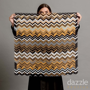 Zig a Zag Wool Silk Square - Gold