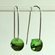 bright green horizon earrings