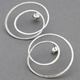 Silver Gyra Hoop Earrings Large
