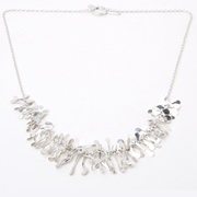 Half Boa Necklace. Silver