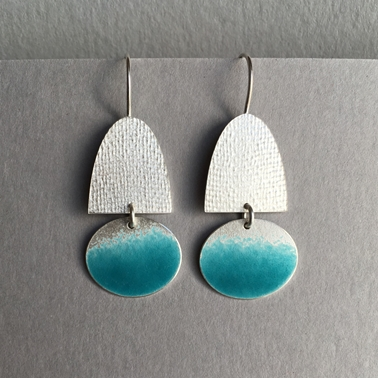 Half oval hook with Deep Turquoise oval