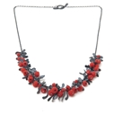 Red Half Boa Necklace