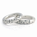 Halo spotty silver rings