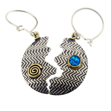 halved zigzag earrings 1