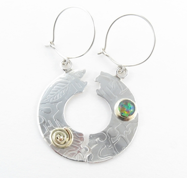 Halved circle earrings