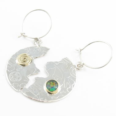 halved disc earrings