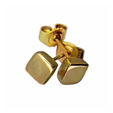 Square 18ct Yellow Gold Studs