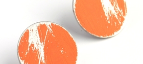 HEather McDermott - Orange Buoy Earrings