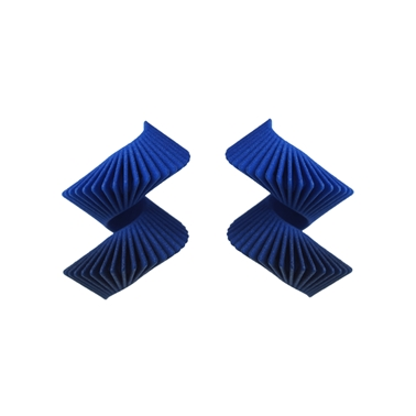 Midi Helix Earrings - Blue