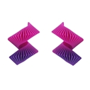 Midi Helix Earrings - Pink