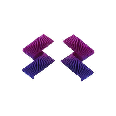 Midi Helix Earring - Purple