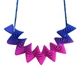 Statement Helix Necklace - Pink