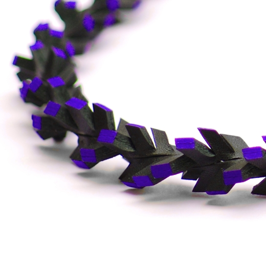 Helix with Ribbon - Black & Blue - detail