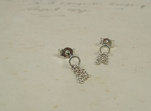 Holding On Earrings Polished Front
