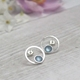 Enamel Hoop Stud Earrings