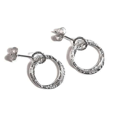 Hoop Studs With Interlinking Hoops