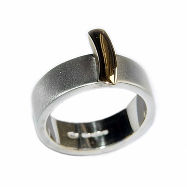 Silver Ring with 18ct Gold Detail