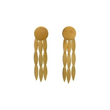 icarus Large Sun Drop Earrings