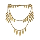 Icarus Large Drops Necklace Gold Vermeil