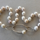 Chinese freshwater pearl necklace with silver clasp