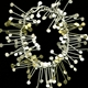 Fiona DeMarco Chaos wire bracelet, silver and gold satin
