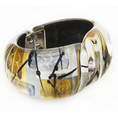 Gold/Silver Hinged bangle