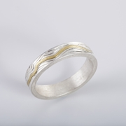 'contours' ring, narrow