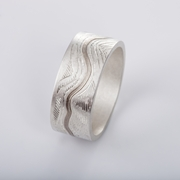 'Contours' ring, wide