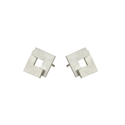 Flat Geom Stud Earrings