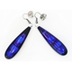 Azure Long Slim Drop Earrings