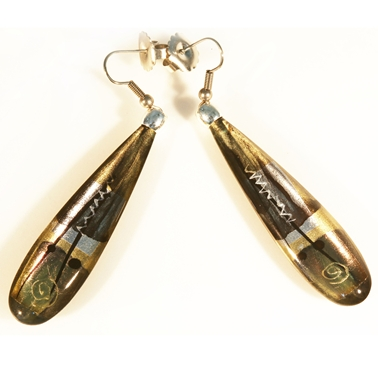 Gold/Silver Long Slim Drop Earrings