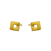 Geom Mini Nugget Stud Earrings 18ct Vermeil