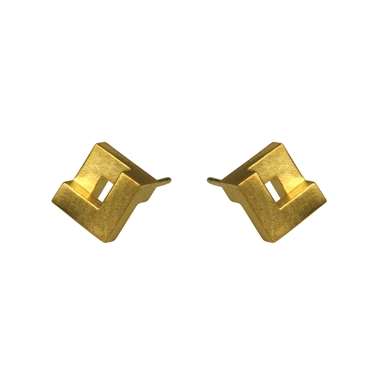 Maxi Geom Nugget Stud Earrings 18ct Vermeil