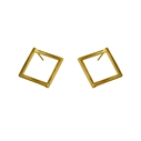 Large Gem Stud Earrings Gold